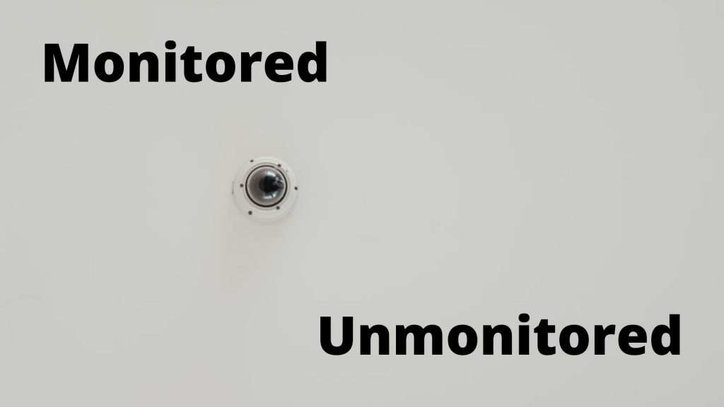 monitored or unmonitored alarm system